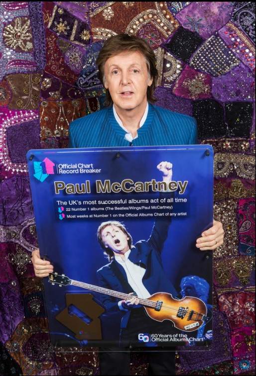 Paul McCartney får fint pris 2016