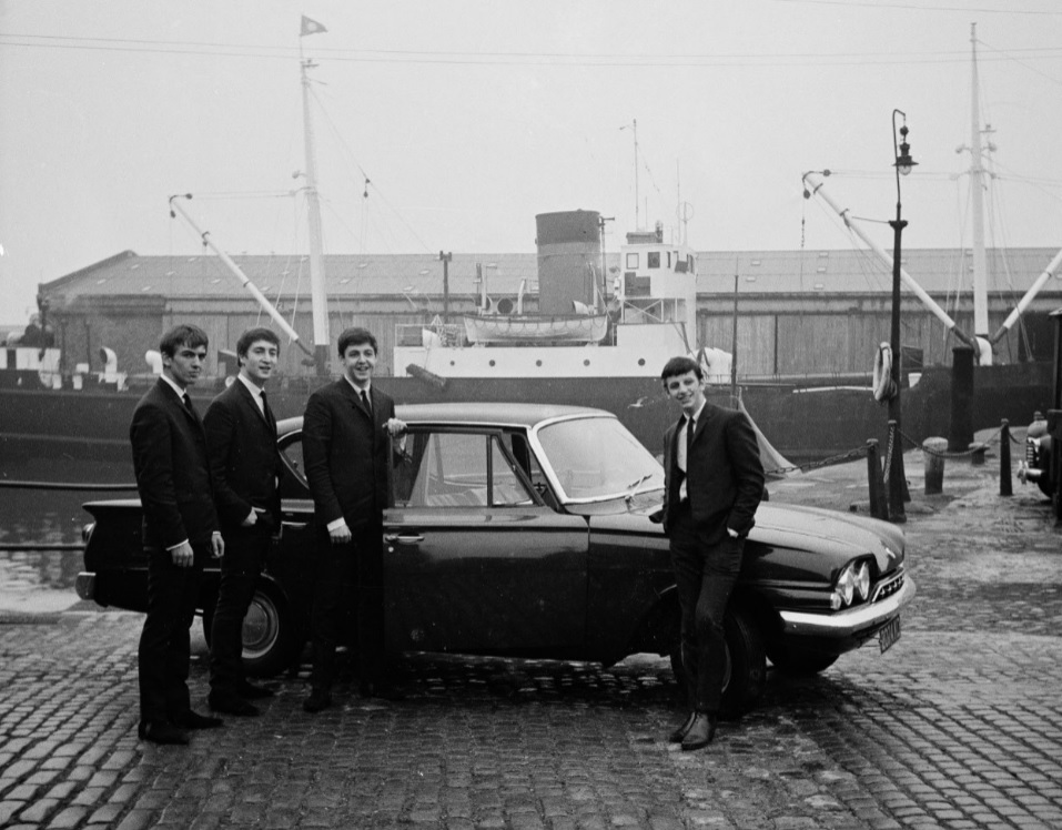 The Beatles i Liverppols hamnområde 1962