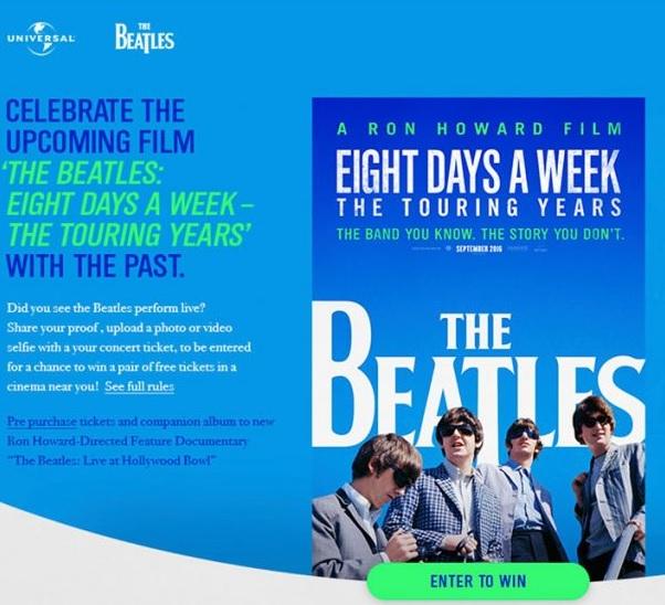 Tävlingsbild Beatlesfilm