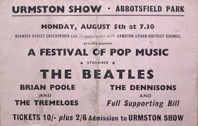 Concierto en Abbotsfield Park en Urmston, Lancashire | The Beatles ...